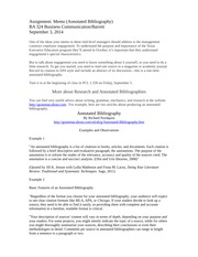 Assignment Memo 2 Annotated Bibliography
