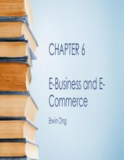 Chapter 6 E-Business and E-Commerce