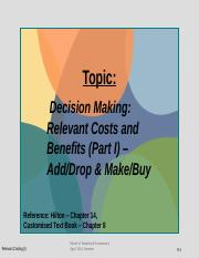 Week 12 Relevant Costing I AddDrop_MakeBuy_(FV) week beginning 07 July 2014.pptx