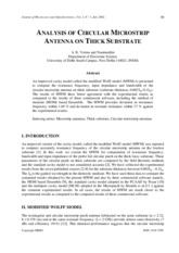 Volume 2 - Number 5 - Analysis of Circular Microstrip Antenna on Thick Substrate.pdf