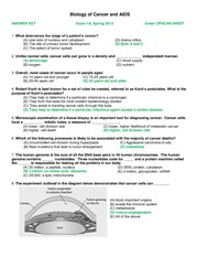MicroBio 160 Exam 1 Example with Answers