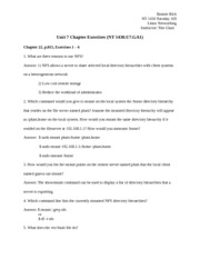NT 1430 NT/1430 NT1430 Unit 7 Chapter Exercises (Ch.22 and 25) (ITT TECH)