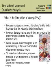 Chapter 20 - Time Value of Money and Quantitative Analysis Equation.ppt