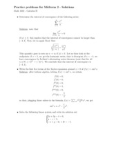 Math 1502 Practice Problems for Midterm 2 with Solutions