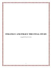 Strategy and Policy Final Study