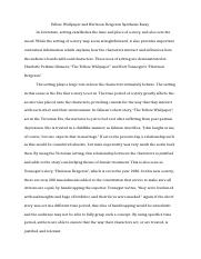 Yellow Wallpaper and Harrison Bergeron Synthesis Essay.docx