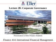 Finance414Lecture2BCorporateGovernanceAroundWorld