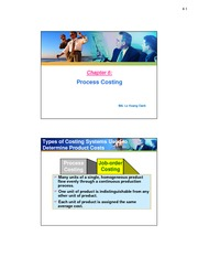 Chapter 6.Process costing.for students.2 slides per page