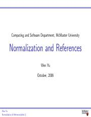 normalization+references