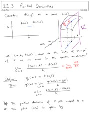 11.3 Partial Derivatives