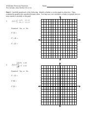Piecewise Worksheet and Answers.pdf - Worksheet Piecewise ...