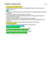 Elementary Statistics Chapter 5 Study Guide