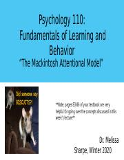 Lecture 8. The Mackintosh Attentional Model.pptx