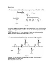 Diode Assignment