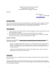 Syllabus L 290 Women in the Workplace.doc