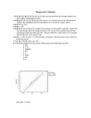 Homework 5 Example with Solutions