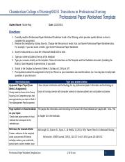 Ring Professional Paper Worksheet