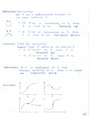 MATH 184 Concavity Notes