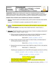 Student exploration titration gizmo answer key activity a ...
