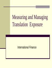 Translation Exposure.ppt