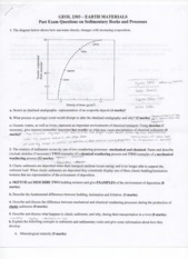 Past Exam Questions 2 GEOL 2403