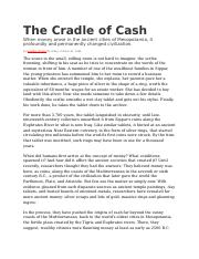 The Cradle of Cash.docx
