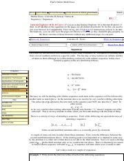 Pauls Online Notes Calculus Ii Sequences Paul S Online Math Notes Home Class Notes Extras Reviews Search Cheat Sheets Tables Downloads Online Course Hero Our final fundamental theorem of calculus is stokes' theorem. course hero