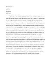 Extra Credit Paper- The Servant of Two Masters