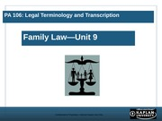 PA106Unit9Family Law