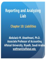 Chapter 10 Reporting and Anlayzing Liabilities.ppt