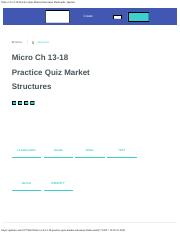 Micro Ch 13-18 Practice Quiz Market Structures Flashcards _ Quizlet