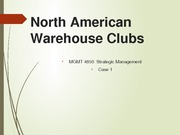 Presentation Assignment on Warehouse Case