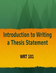 intro thesis The second task can be accomplished by a carefully crafted thesis statement remember, it is an introduction, not the paper from going, going, gone to the.