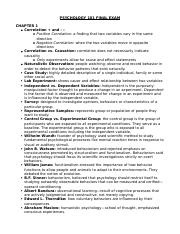 Psych 101 FInal Exam Study Guide