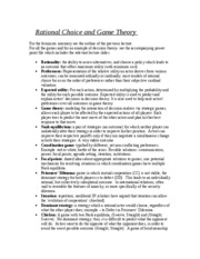Outline- lecture 6- game theory