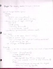 Chapter six Notes