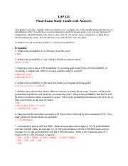 Final Exam Study Guide with Answers-Math