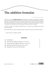 The addition formulae