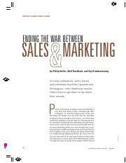04 Ending the war between sales and marketing