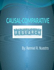 R3 CAUSAL-COMPARATIVE RESEARCH PPT