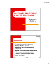 Accounts Receivable and Notes Receivable Topic Slides
