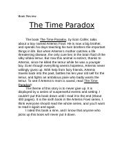 Book Reviewtimeparadox.doc