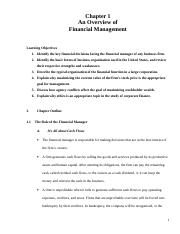CH_01_An Overview of Financial Management