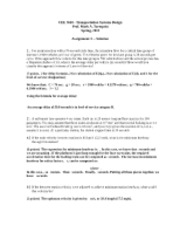 CEE 3610 -- Assignment 3 Solution -- 2012-1