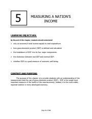 Chapter 5 Measuring A Nations Income
