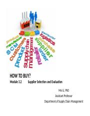 3.2 Supplier Selection and Evaluation Instructor UpdatedII.pptx