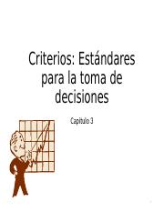 Capítulo 3 Criterios para la toma de decisiones