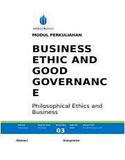 Modul Philosophical Ethics and Business