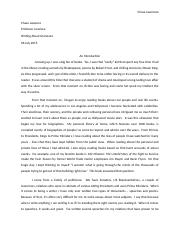Writing About Literature - Chase Lawrence - Essay 1 (REVISED)