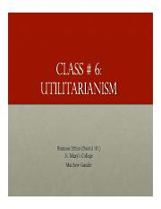 Business Ethics Class 6 Utilitarianism